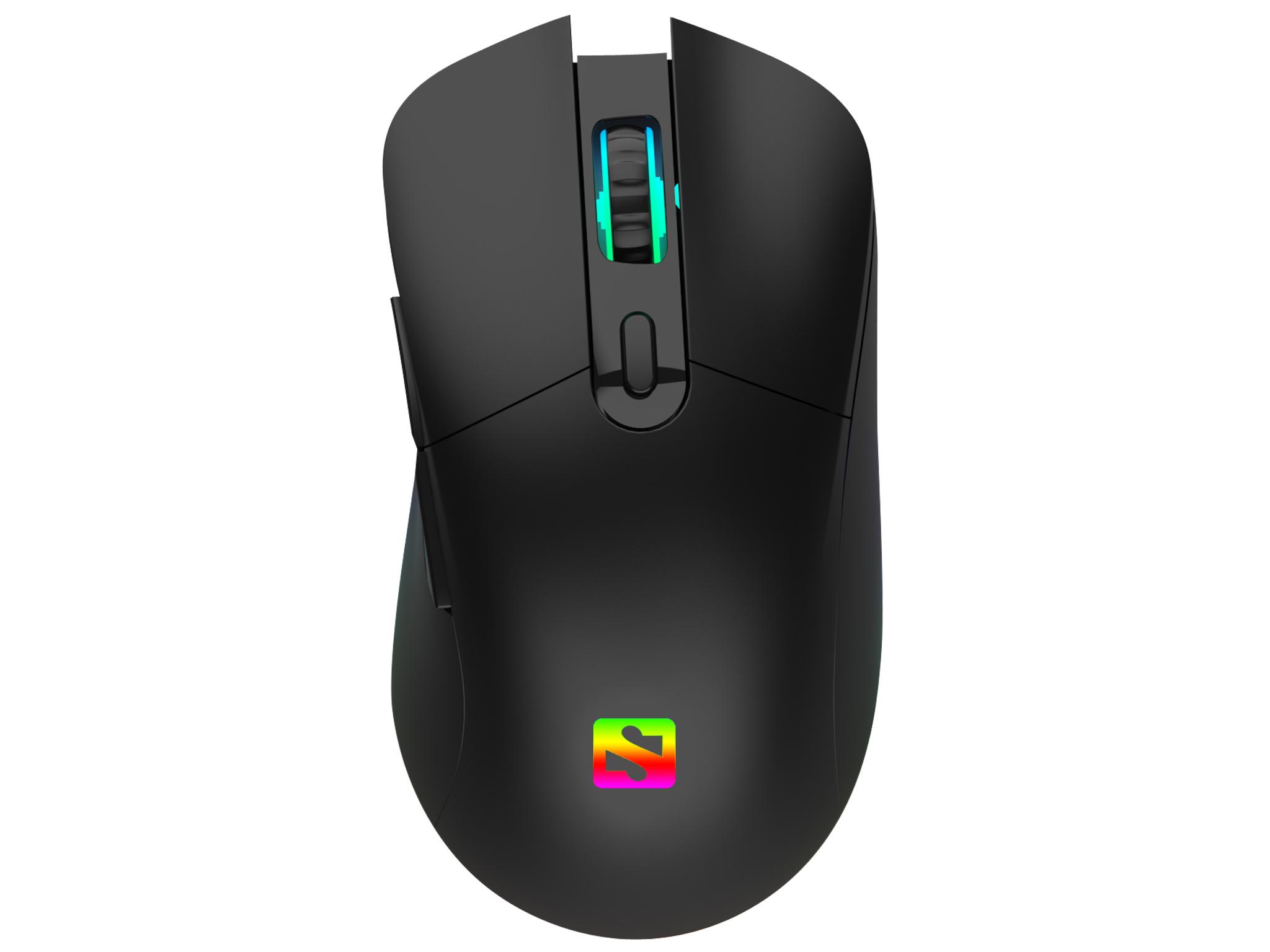 Lyset i musen kan ændres ved at trykke på en knap i bunden.