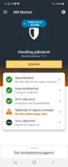 Du bliver advaret på app'ens forside, hvis der er noget, du skal vide eller gøre.