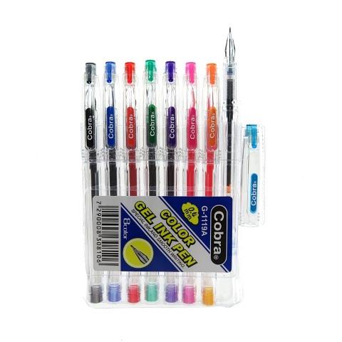 עט קוברה 0.4 סט 8 גוונים