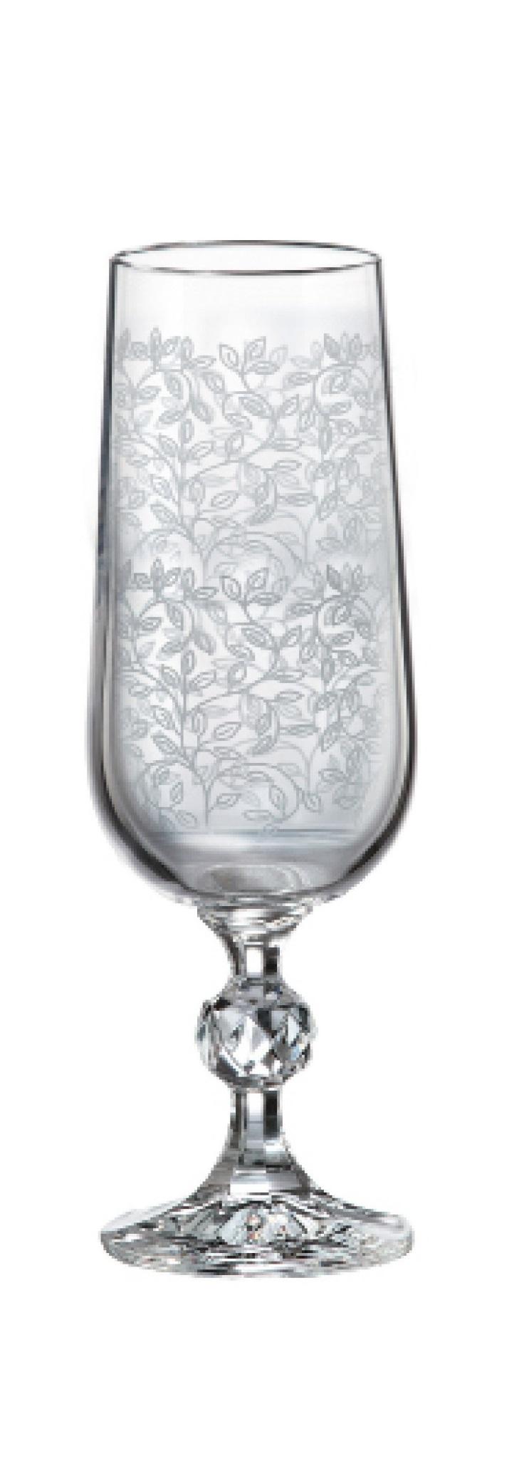 כוס קריסטל STERNA כסף שמפניה ששיה