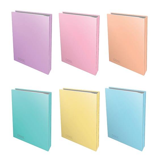 קלסר מפל A4 צבעי פסטל