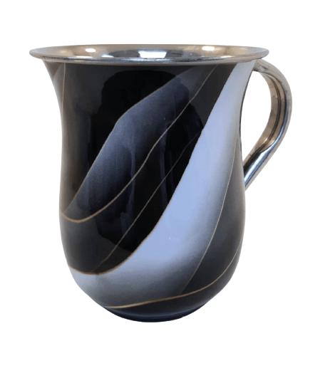 נטלה נירוסטה גלים שחור זהב