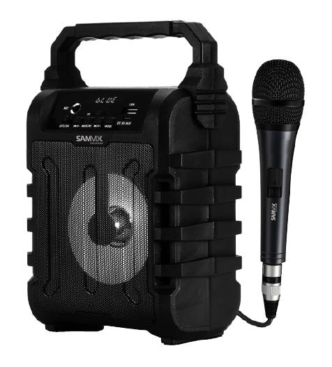 רמקול קריוקי + מיקרופון 15W