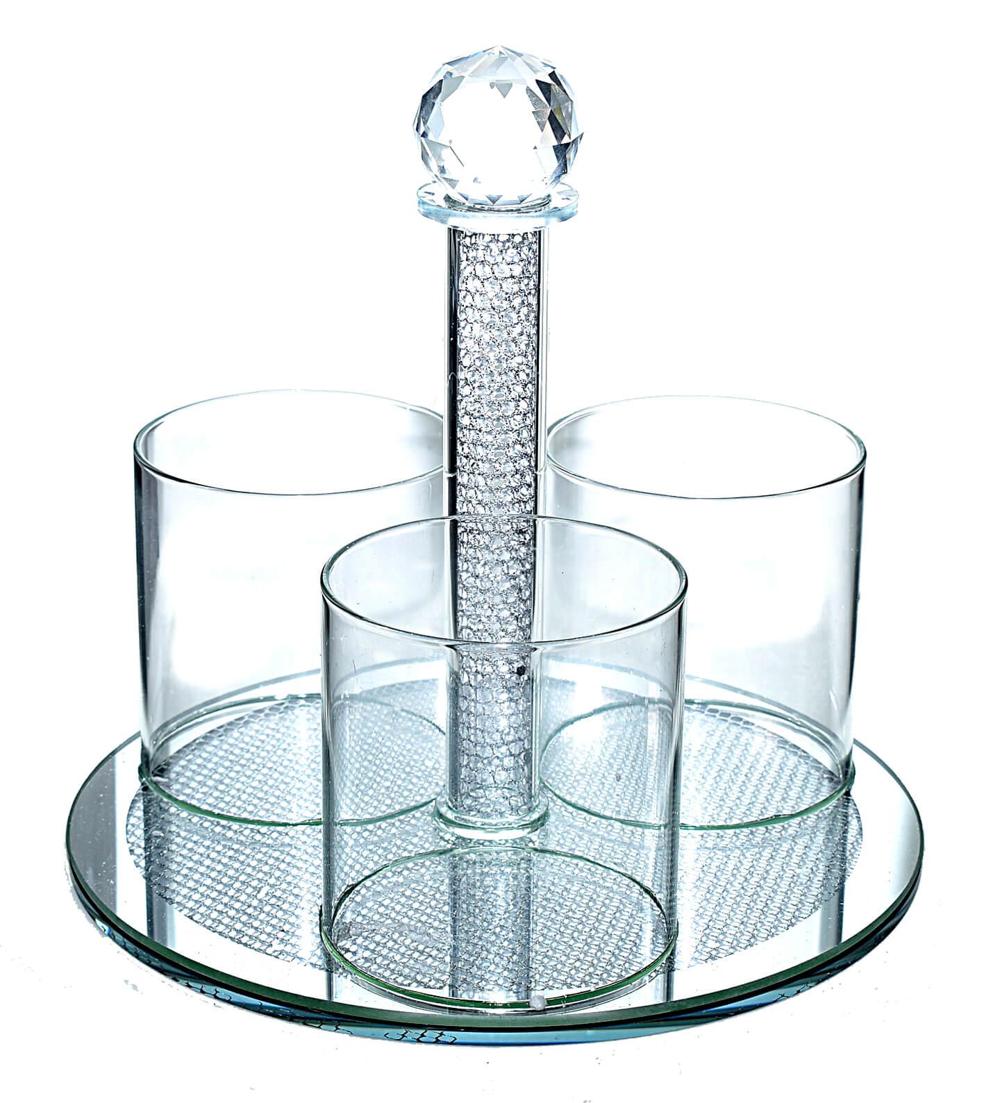 מעמד קריסטל לשולחן 3 תאים
