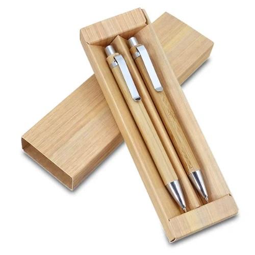 עט במבוק + עפרון במבוק