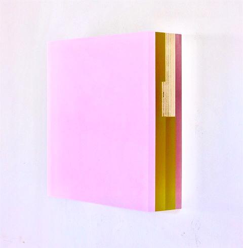 Michelle Benoit, Chartreuse in pink, 2017