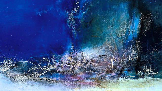 Zao Wou-ki, 07.06.85, oil on canvas, 114 x 195 cm, Bridgestone Museum of Art, Ishibashi Foundation, Tokyo.