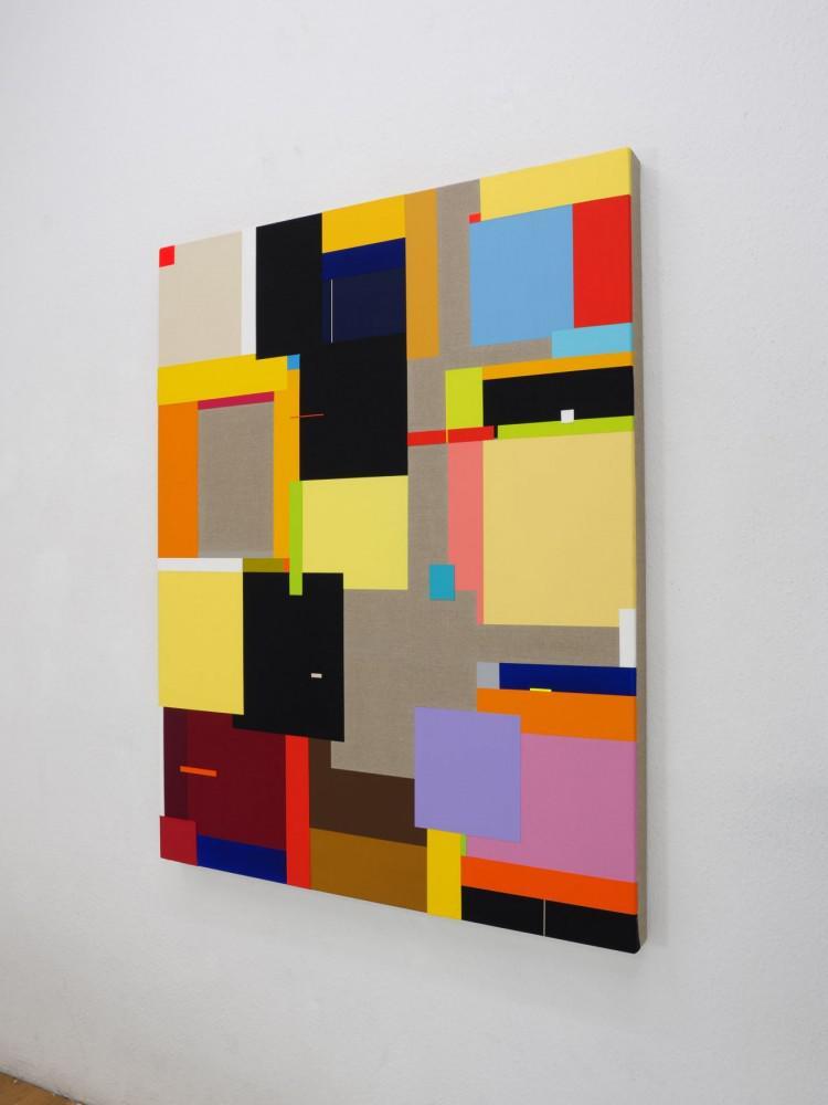 Richard Schur - Sensation,  2017 (acrylic on canvas, cm. 140x110)