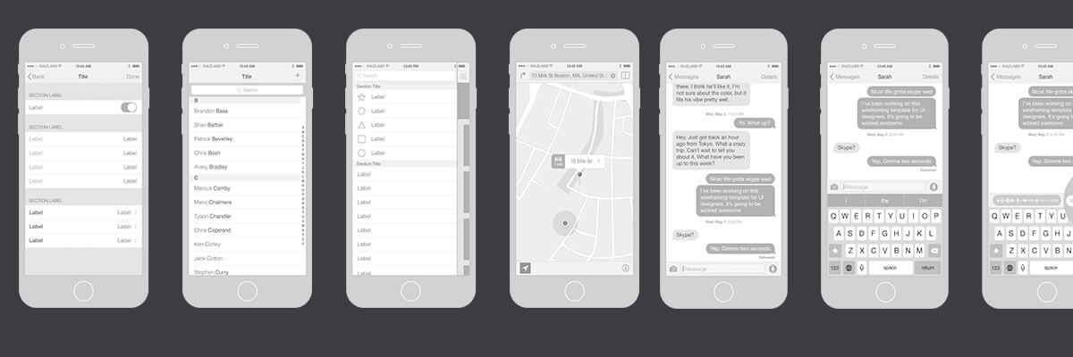 Overview of Wireframes