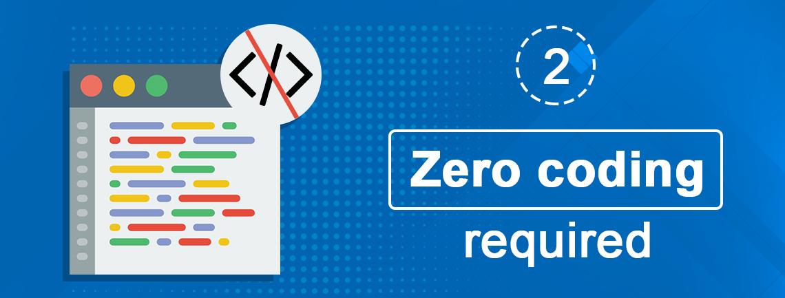 Zero coding required - push notification