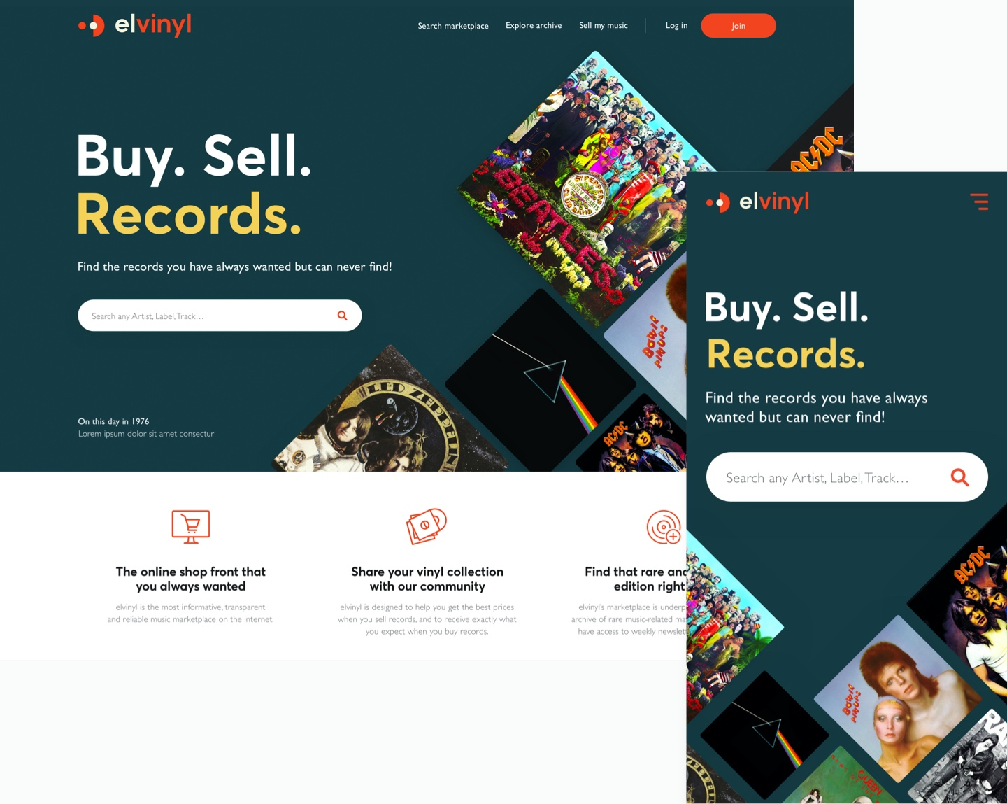elvinyl website design