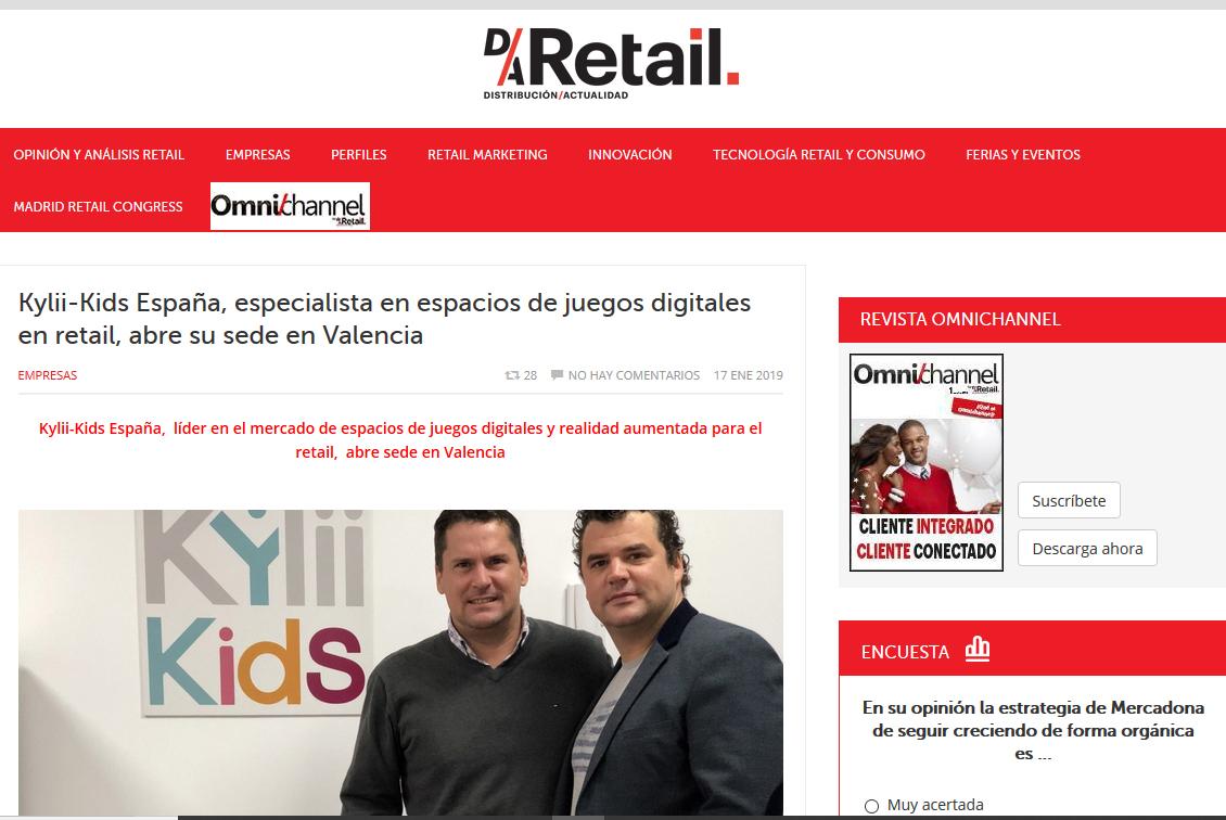 Kylii Kids España en la revista Distribución actualidad