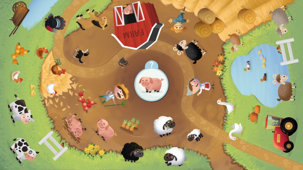 Dans la ferme, un jeu tactile made by Kylii Kids