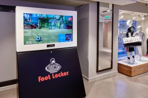 Augmented reality at Foot Locker Milano