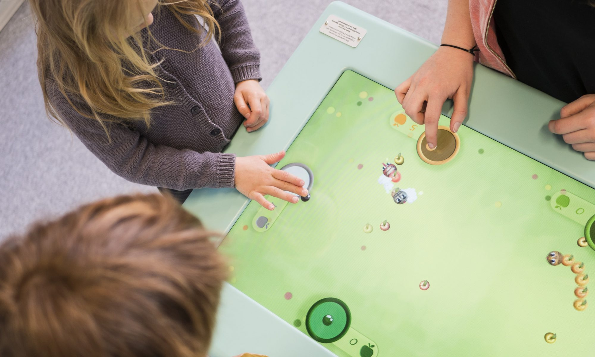 Terminals and touch tables for children's multimedia games