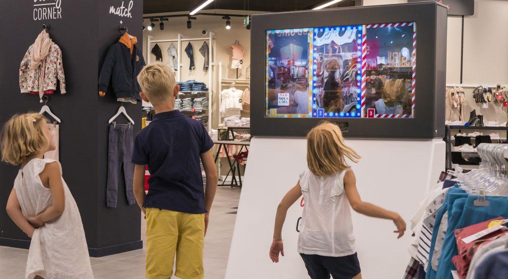 Réalité augmentée pour enfants dans les magasins Tape à l'oeil
