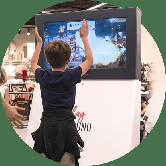 Jeux gestuels et écran de réalité augmentée