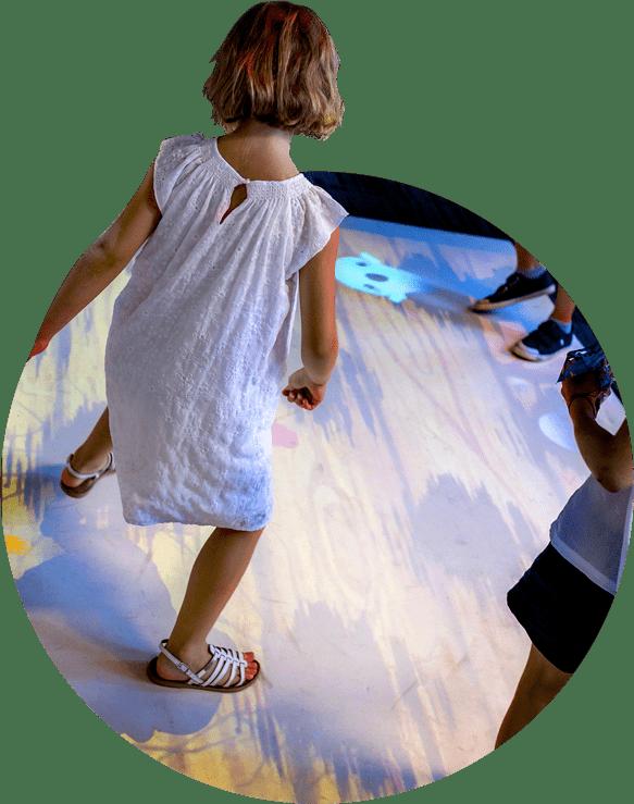 Jeux de sol interactif pour enfants