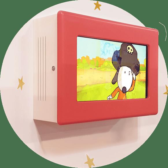 Terminales de video de dibujos animados