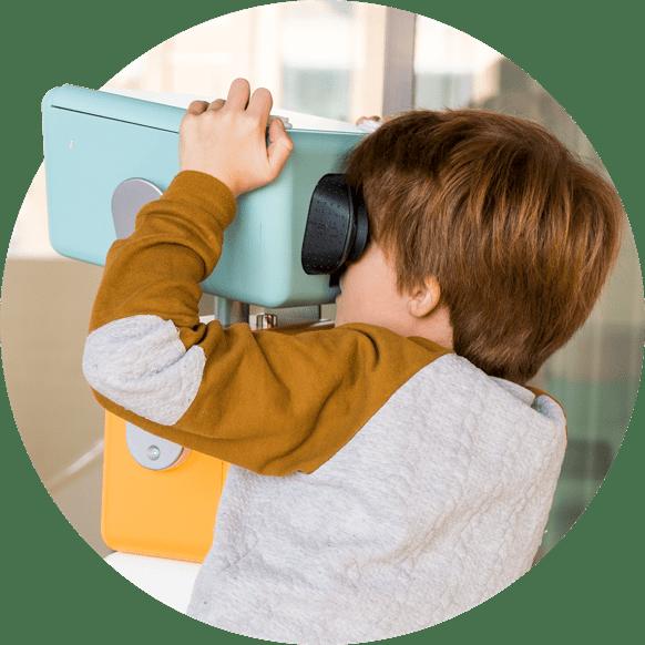 Jumelles de réalité virtuelle enfants
