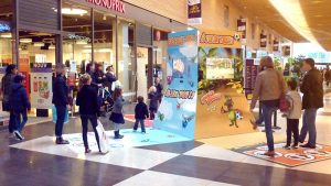 Bornes interactives au centre commercial les Rives de l'Orne
