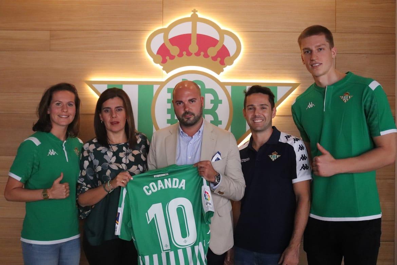 COANDA llega a un acuerdo como colaborador de las secciones deportivas del REAL BETIS BALOMPIÉ para la temporada 2019/2020