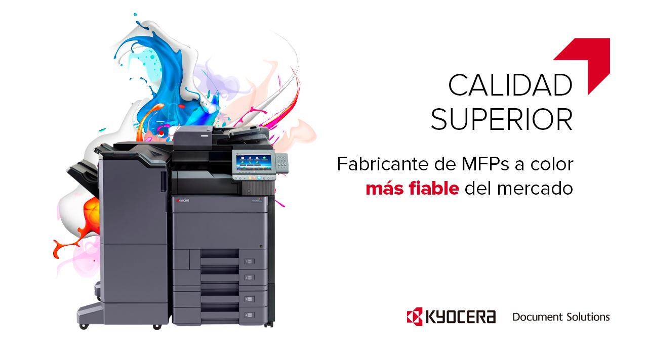 KYOCERA, elegido fabricante de Multifuncionales a Color más fiable del mercado