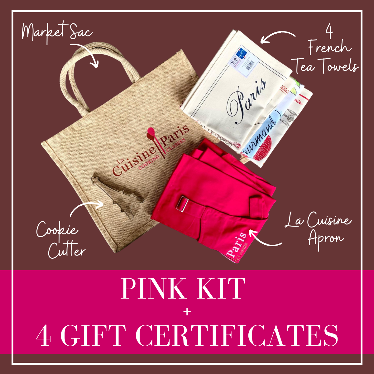 Pink La Cuisine Paris Kit + 4 Video Gift Certificate