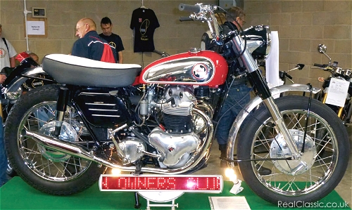 A Norton Nomad, yesterday. No sign of any cake...