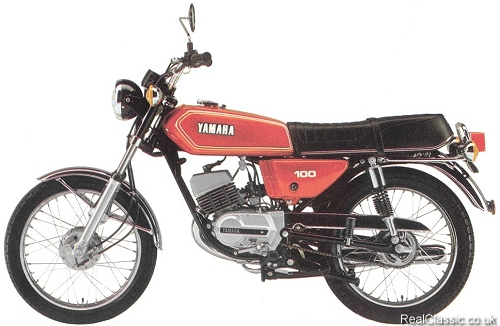 1976 Yamaha RS100. Bus shelter not shown...