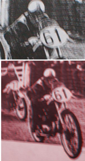 Pic at the top is the original that Woodie sent in. I reckon it's meant to be viewed with 3D glasses (below)...