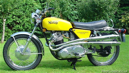 A yellow Commando, yesterday...