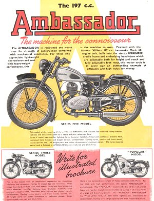 'A Guide to Ambassador Motorcycles' by Michael Easton & Fred Hibbett