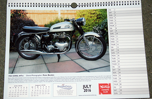 2016 Classic Motorcycle Calendars