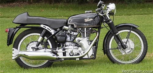 Velocette. Of the non-crooked variety...