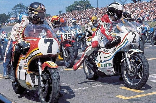 How would Sheene have fared on internet forums? Picture from the Mortons Archive...