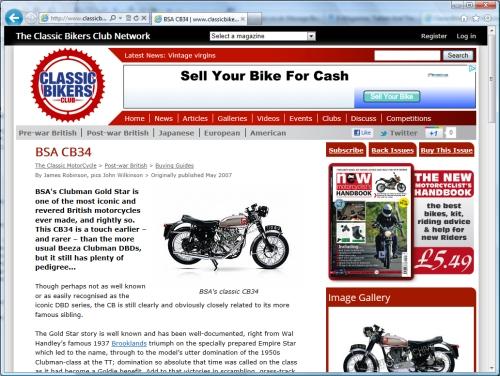 Link to ClassicBikersClub.com...