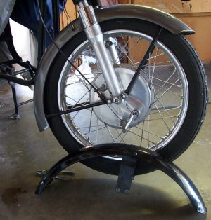 Lightweight front wheel is in need of more ballast.
