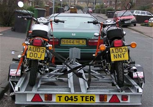 Probably not a good idea to leave those two bikes parked there on bin-day...