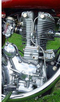Note the CV carb and the valve lifter on the push-rod inspection plate.