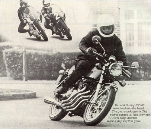 Period advert for Dunlop TT100s. Maybe this is what I thought I was buying...