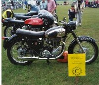 First prize in the 'very small motorcycle' class.