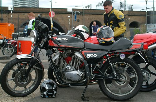500 at the Ace Cafe. Bit too modern?