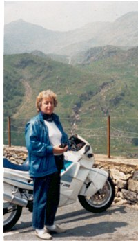 In Snowdonia, 1994, with SWMBO