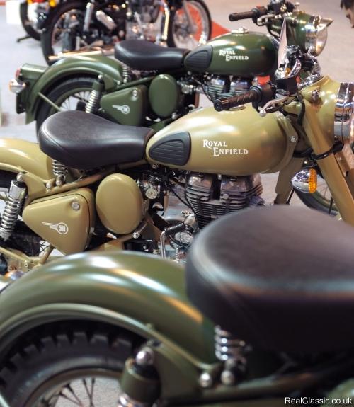 Royal Enfield Electras - matt or shiny, you takes your choice...