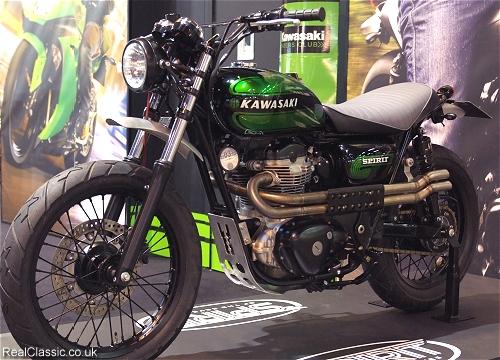 Kawasaki W800 has captured the customisers' eye...