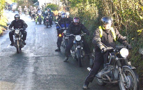 Triumph riders are always allowed to go to the front. Otherwise they sulk. Probably..