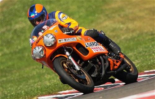 Piero Laverda on the Laverda V6 endurance racer