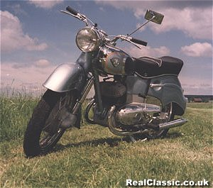 It could be a 1955 Maico Taifun. It could be anything, the original photo was so small