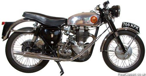 A 350cc BSA Gold Star, yesterday....